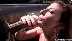 Hot Shaped Sara Jay Tastes Big Black Cock 2 #5903